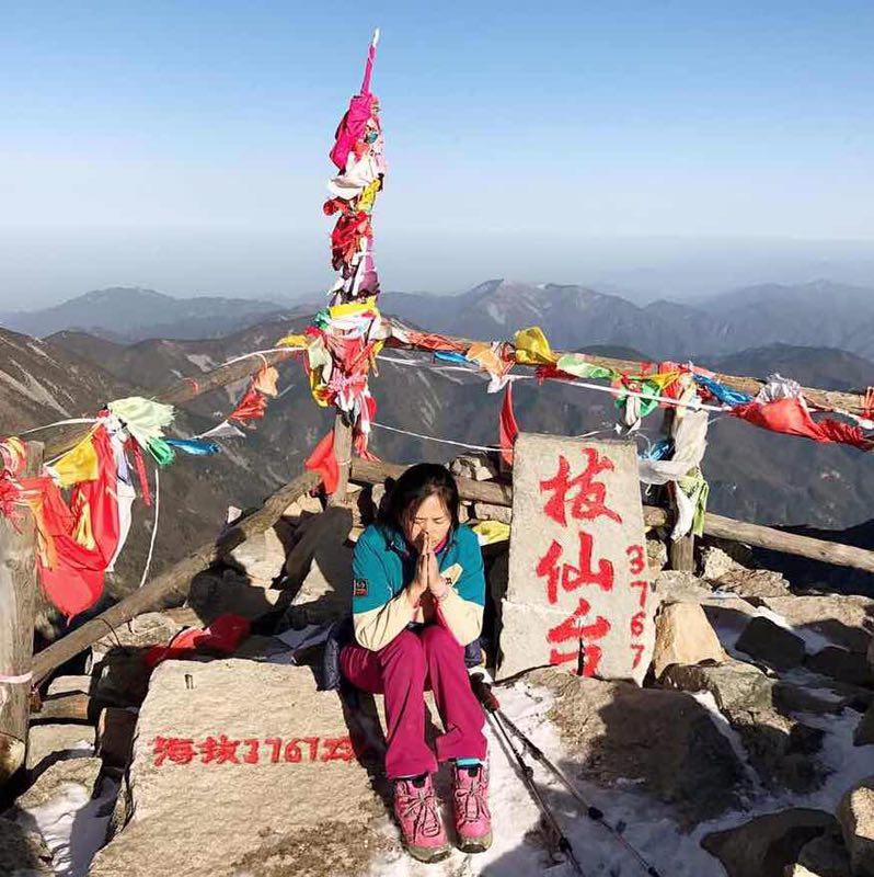 【雅】優ちゃん太白山を登る