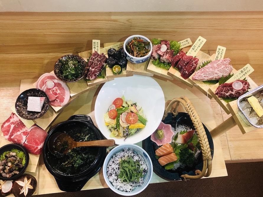 【萬福・炭火焼肉】二人前の特別価格コース